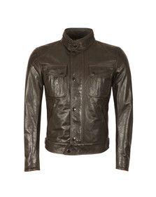 Matchless Mens Black Mick Leather Blouson