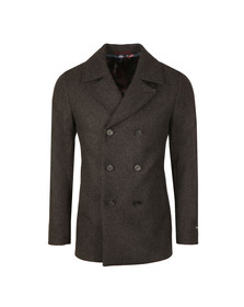 Ted Baker Mens Grey Zachary Wool Peacoat