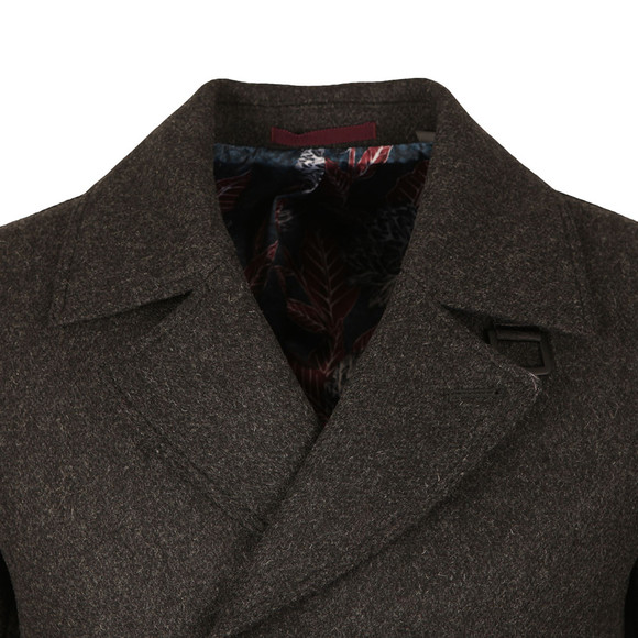 Ted Baker Mens Grey Zachary Wool Peacoat main image