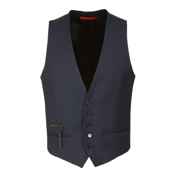 HUGO Mens Blue Wilardo Waist Coat