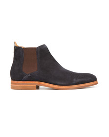 H By Hudson Mens Blue Tonti Suede Boot