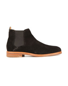 H By Hudson Mens Black Tonti Suede Boot