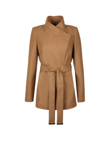 Ted Baker Womens Brown Keyla Short Wrap Coat