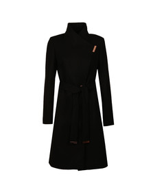 Ted Baker Womens Black Kikiie Long Wrap Coat