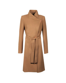 Ted Baker Womens Brown Kikiie Long Wrap Coat