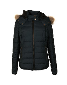 Belstaff Womens Grey Avedon Down Jacket With Fur