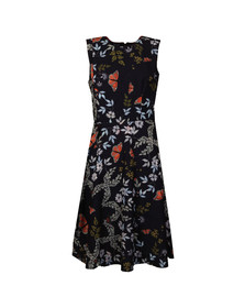 Ted Baker Womens Blue Jennesa Kyoto Gardens Fold Dress
