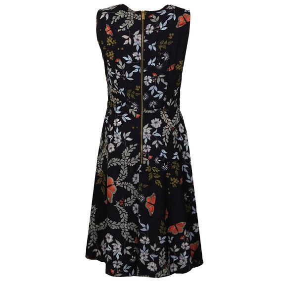 Ted Baker Womens Blue Jennesa Kyoto Gardens Fold Dress main image