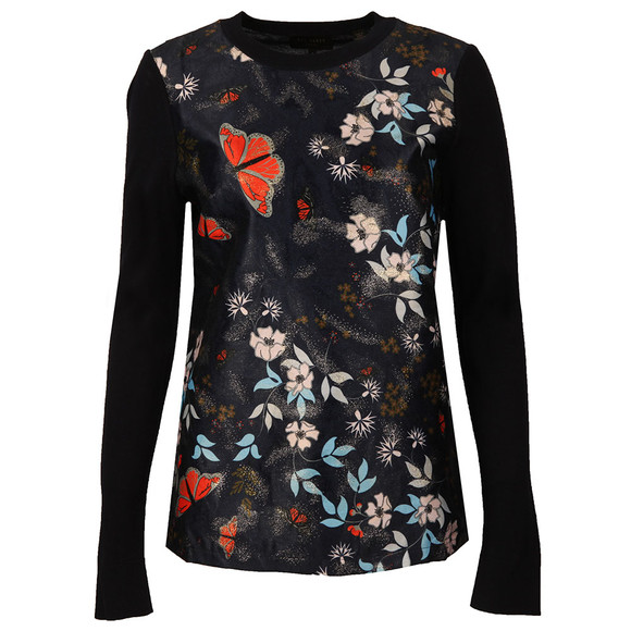 Ted Baker Womens Blue Khlo Kyoto Gardens Jacquard Jumper main image