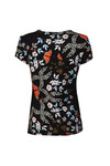 Ted Baker Womens Blue Pepa Kyoto Gardens Fitted Tee
