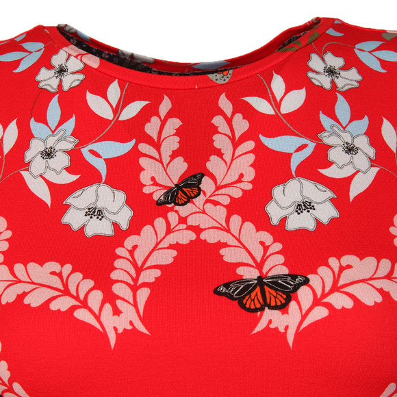 Ted Baker Womens Red Pepa Kyoto Gardens Fitted Tee main image