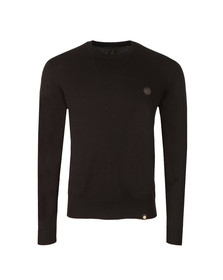 Pretty Green Mens Black Hinchcliffe Crew Neck Jumper