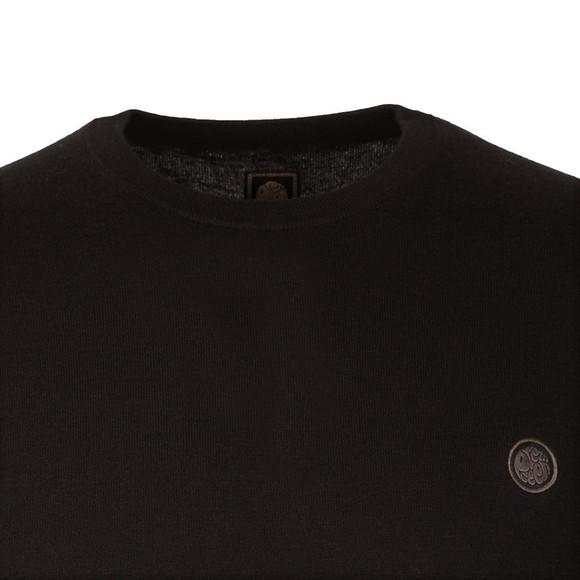 Pretty Green Mens Black Hinchcliffe Crew Neck Jumper main image