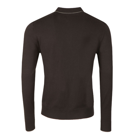Pretty Green Mens Black L/S Tilson Knitted Polo main image