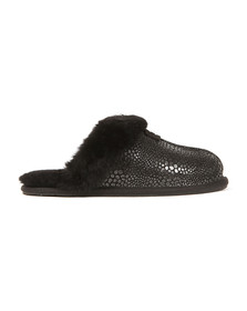 Ugg Womens Black Scuffette II Glitzy Slipper
