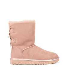 Ugg Womens Pink Bailey Bow II Metallic Boot