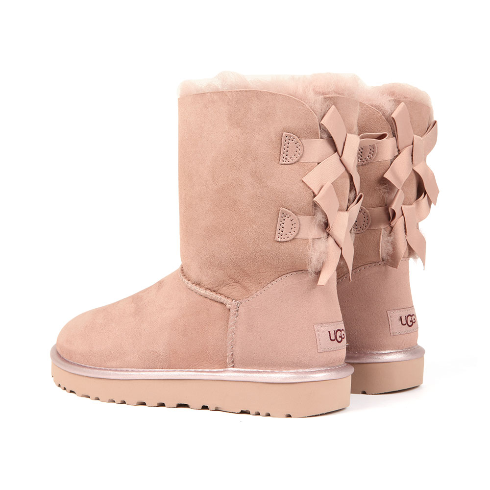 1f88fba2837 Womens Pink Bailey Bow II Metallic Boot
