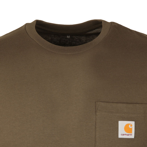 Carhartt Mens Green Pocket Crew T-Shirt main image