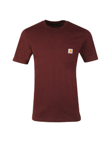 Carhartt Mens Red Pocket Crew T-Shirt