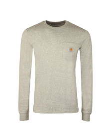 Carhartt Mens Grey Long Sleeve Pocket T Shirt