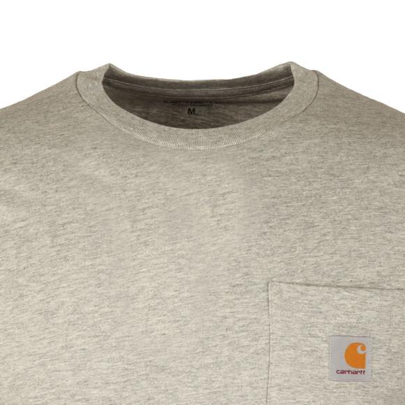 Carhartt Mens Grey Long Sleeve Pocket T Shirt main image