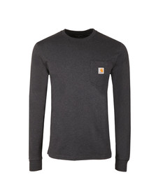 Carhartt Mens Blue Long Sleeve Pocket T Shirt