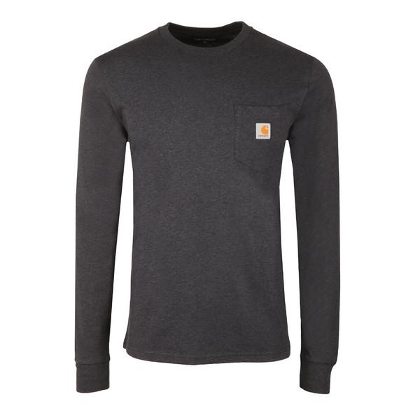 Carhartt WIP Mens Blue Long Sleeve Pocket T Shirt main image
