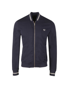 Fred Perry Mens Blue Bomber neck Zip Sweat
