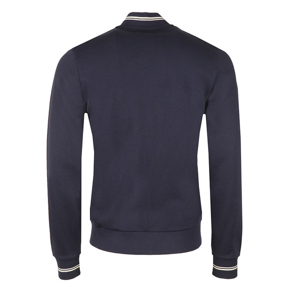 Fred Perry Mens Blue Bomber neck Zip Sweat main image