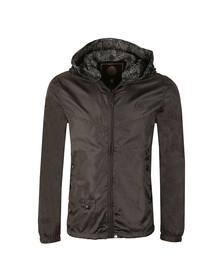 Pretty Green Mens Black Darley Lightweight Zip Up Hooded Jacket