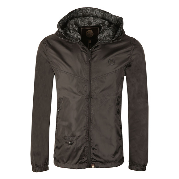 Pretty Green Mens Black Lightweight Zip Up Hooded Jacket main image