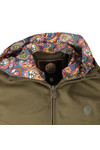 Pretty Green Mens Green Beckford Cotton Zip Up Hooded Jacket
