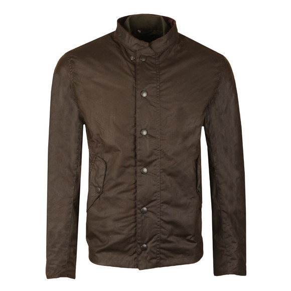 Barbour Heritage Mens Green Ash Wax Jacket main image