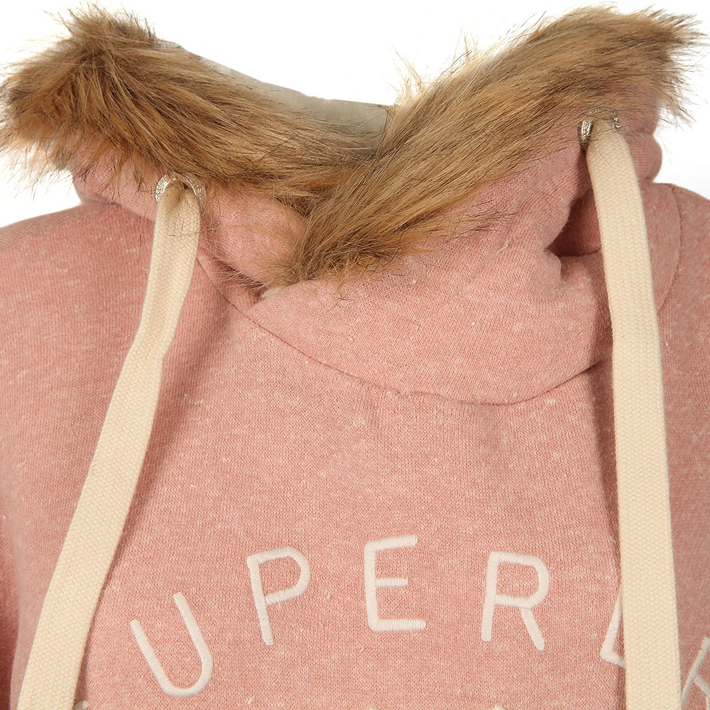 Applique Fur Slouch Hoody main image