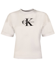 Calvin Klein Womens White Teco-11 True Icon Tee