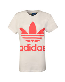 Adidas Originals Womens White Big Trefoil Tee