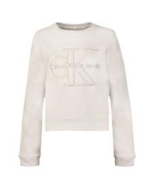 Calvin Klein Womens White Harper Sweatshirt