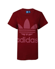 Adidas Originals Womens Red Big Trefoil Tee