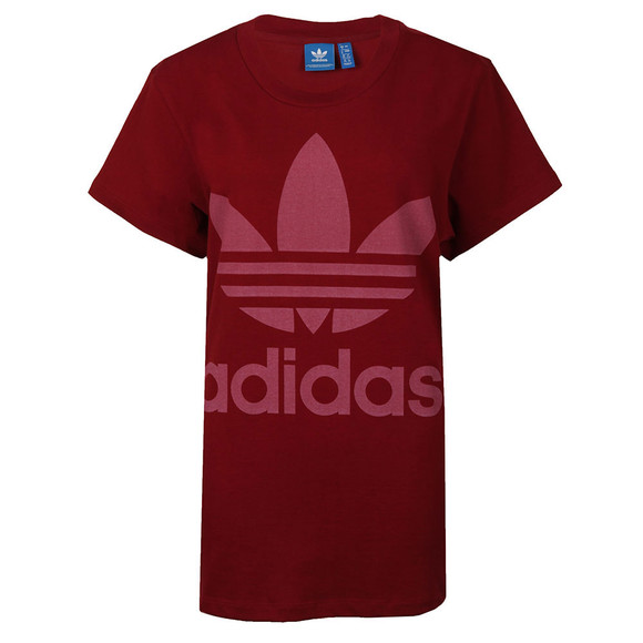 adidas Originals Womens Red Big Trefoil Tee main image