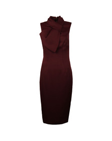 Ted Baker Womens Red Eyet Dramatic Bow Neck Dress