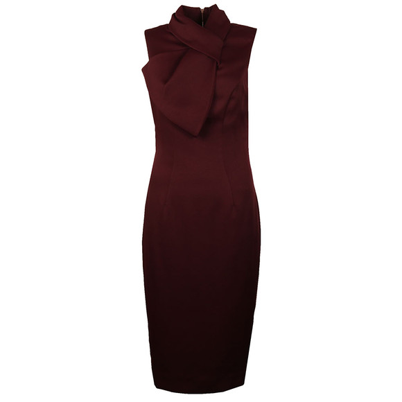 Ted Baker Womens Red Eyet Dramatic Bow Neck Dress main image