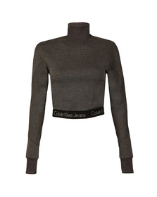 Calvin Klein Womens Grey Hulu MN LWK Top