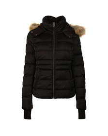 Calvin Klein Womens Black Ovedia MW Down Jacket