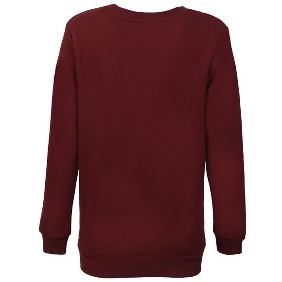 Calvin Klein Womens Red Crew Neck True Icon Sweatshirt main image