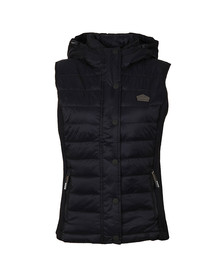 Superdry Womens Blue Luxe Fuji Double Zip Vest