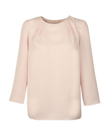 Ted Baker Womens Pink Draped Back Cropped Sleeve  Top
