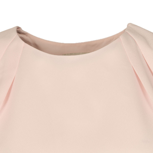 Ted Baker Womens Pink Draped Back Cropped Sleeve  Top main image