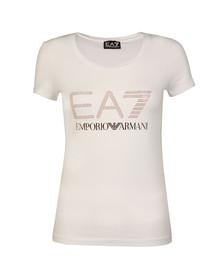 EA7 Emporio Armani Womens White 6YTT37 T Shirt