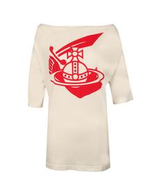 Vivienne Westwood Anglomania Womens White Middling Long Arm & Cutlass Print T Shirt