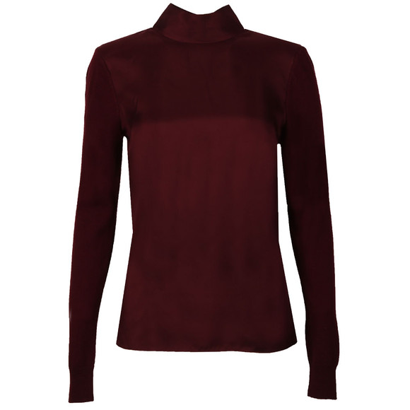 Ted Baker Womens Red Babri Large Neck Tie Jumper main image